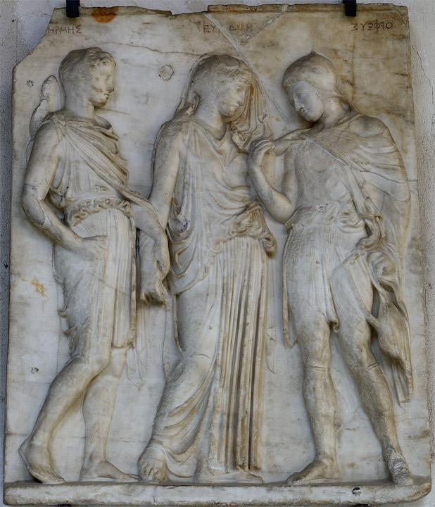 Rilievo con Orfeo ed Euridice