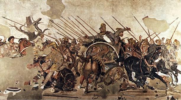 Battaglia fra Alessandro Magno e Dario re dei Persiani
