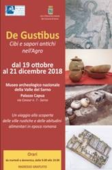 Venerdì 19 ottobre 2018, ore 19.00 - Museo archeologico nazionale Valle del Sarno, inaugurata mostra De Gustibus
