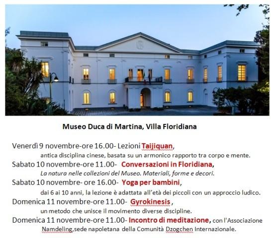 Sabato 10 novembre 2018, ore 11.00 Museo Duca di Martina - Villa Floridiana La natura nelle collezioni del Museo.  Materiali, forme e decori