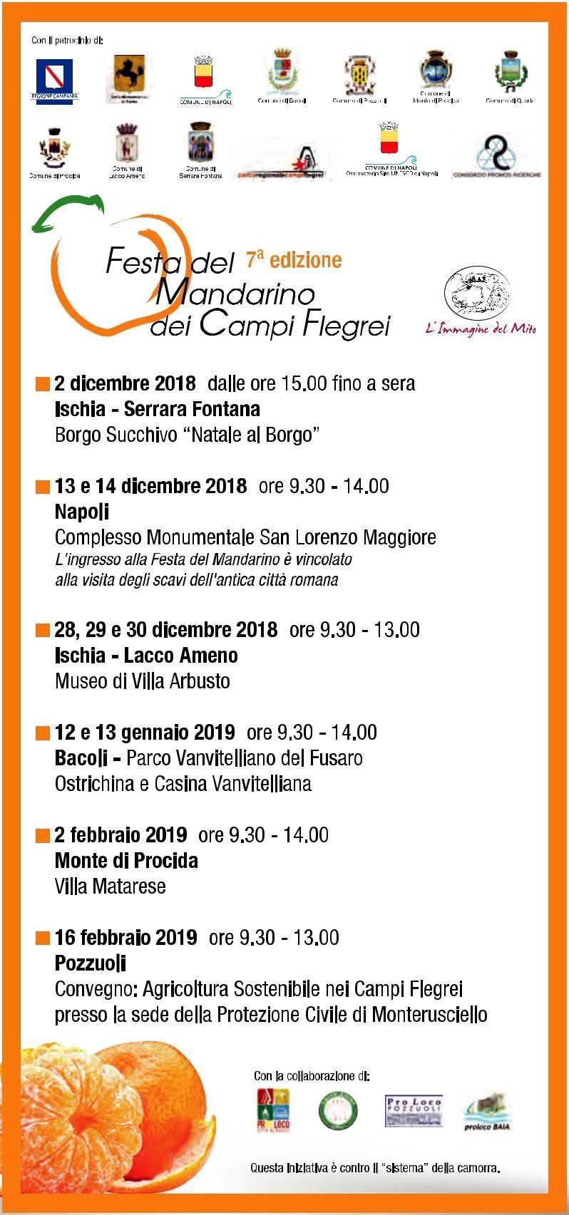 Festa del Mandarino dei Campi Flegrei - dal 02/12/2018 al 16/02/2019