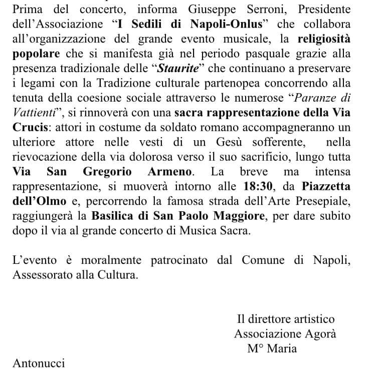 """""""La Passione"""" - rappresentazione sacra a San Gregorio Armeno"""