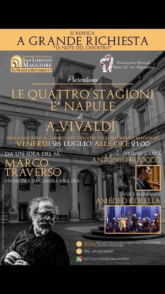 """26 Luglio 2019 - Concerto """"Le quattro Stagioni è Napule"""" di A. Vivaldi"""""""