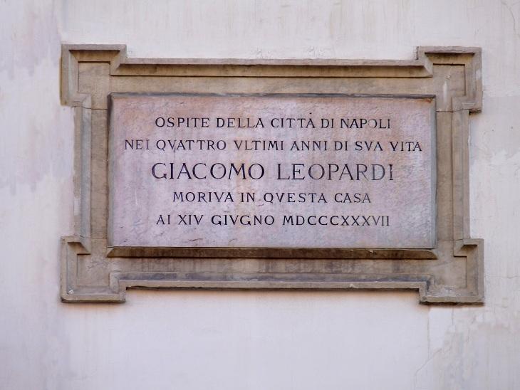 Lapide di Giacomo Leopardi