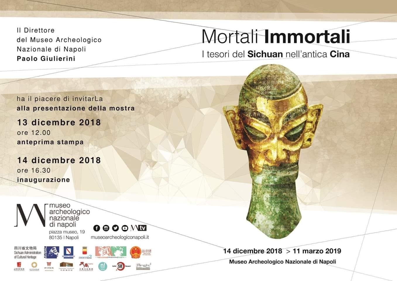 """""""Mortali Immortali. I tesori del Sichuan nell'antica Cina"""" Dal 14 dicembre in programma al Museo."""
