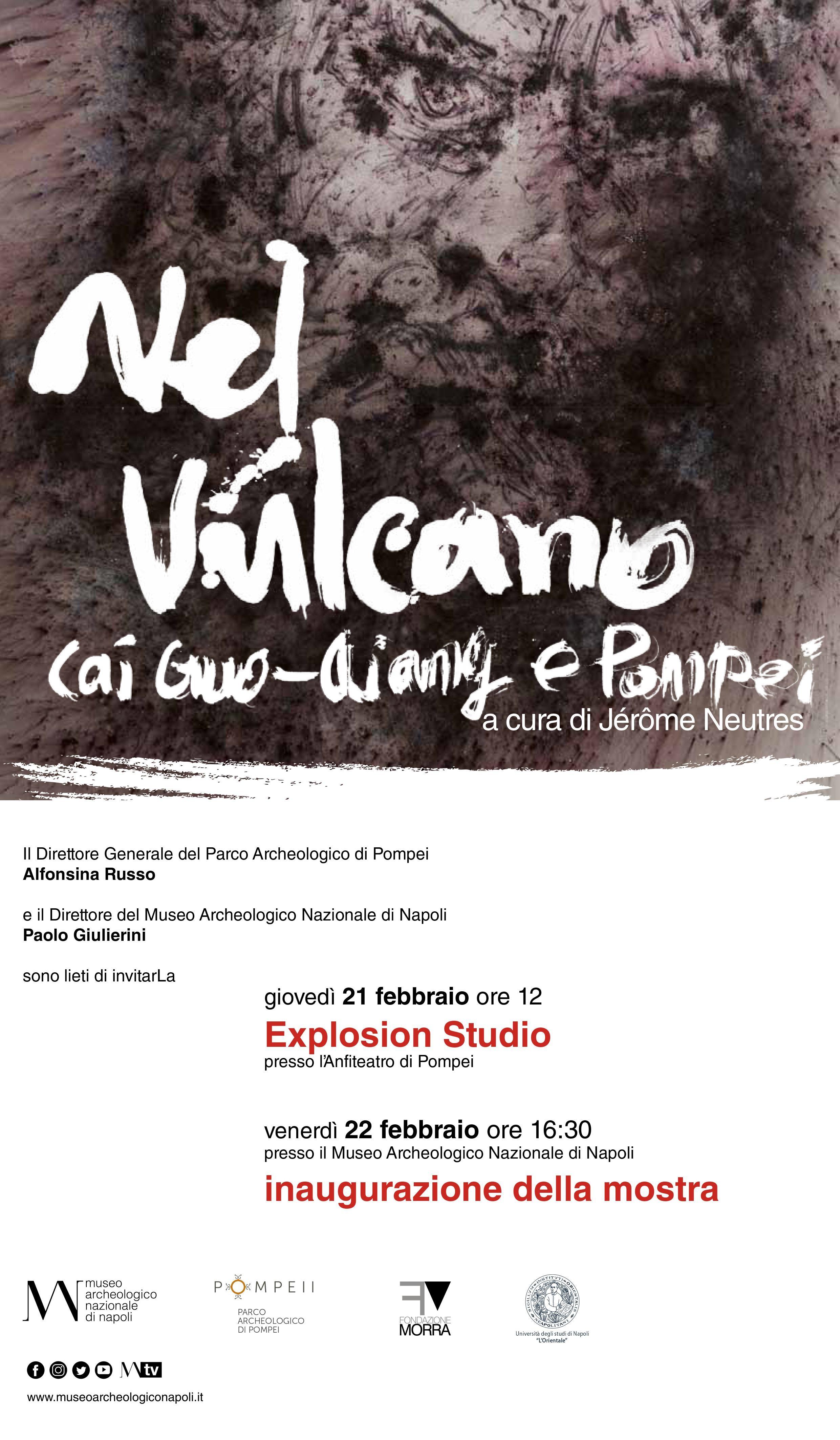"""22 febbraio, alle 16.30 preview per la stampa, la mostra """"Nel Vulcano. Cai Guo-Qiang e Pompei"""""""
