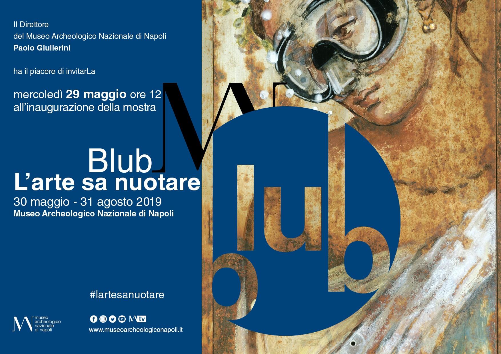 """Mercoledì 29 maggio, ore 12, inaugurerà al MANN  """"L'arte sa nuotare"""" dello street artist Blub"""