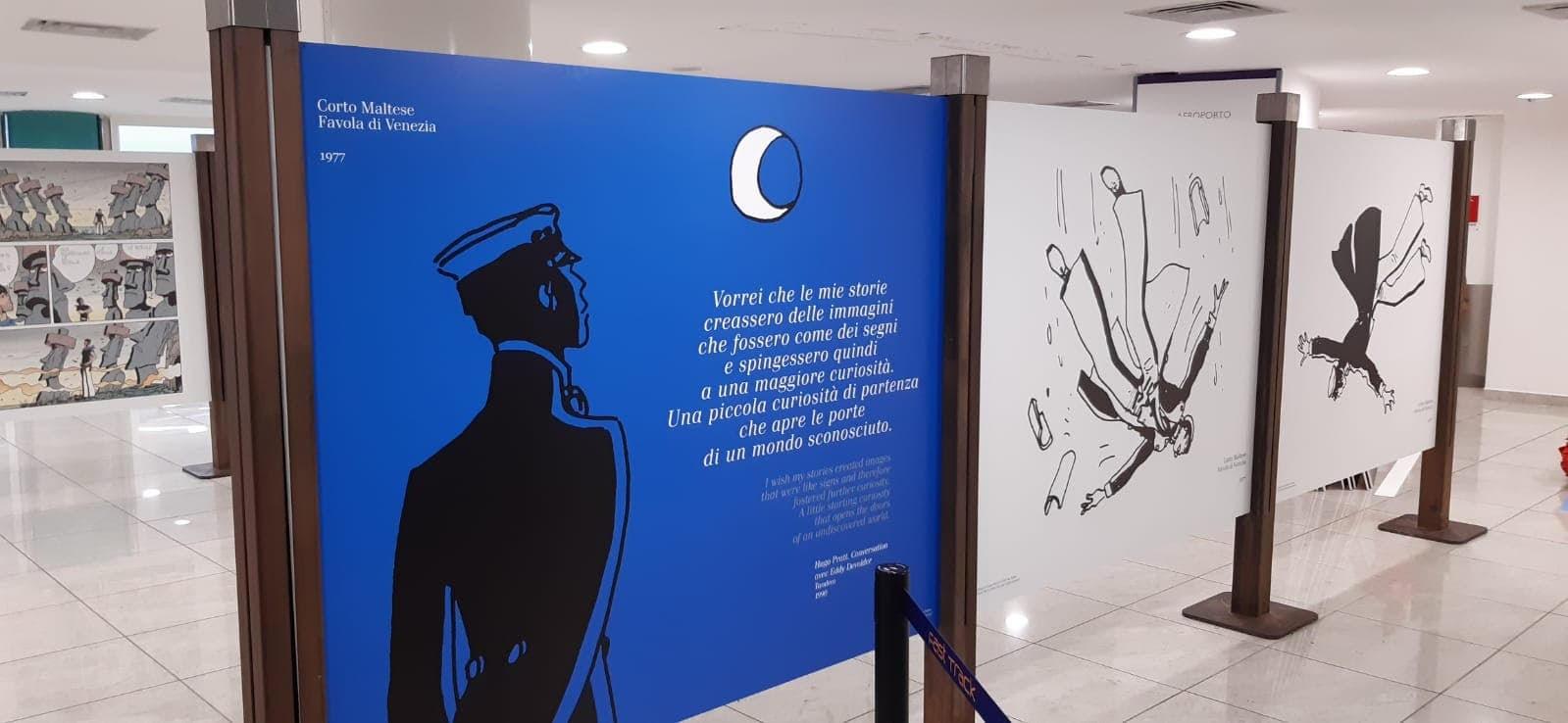 """""""Corto Maltese. Un viaggio straordinario"""" dal 10 luglio al 9 settembre all'Aeroporto Internazionale di Napoli"""