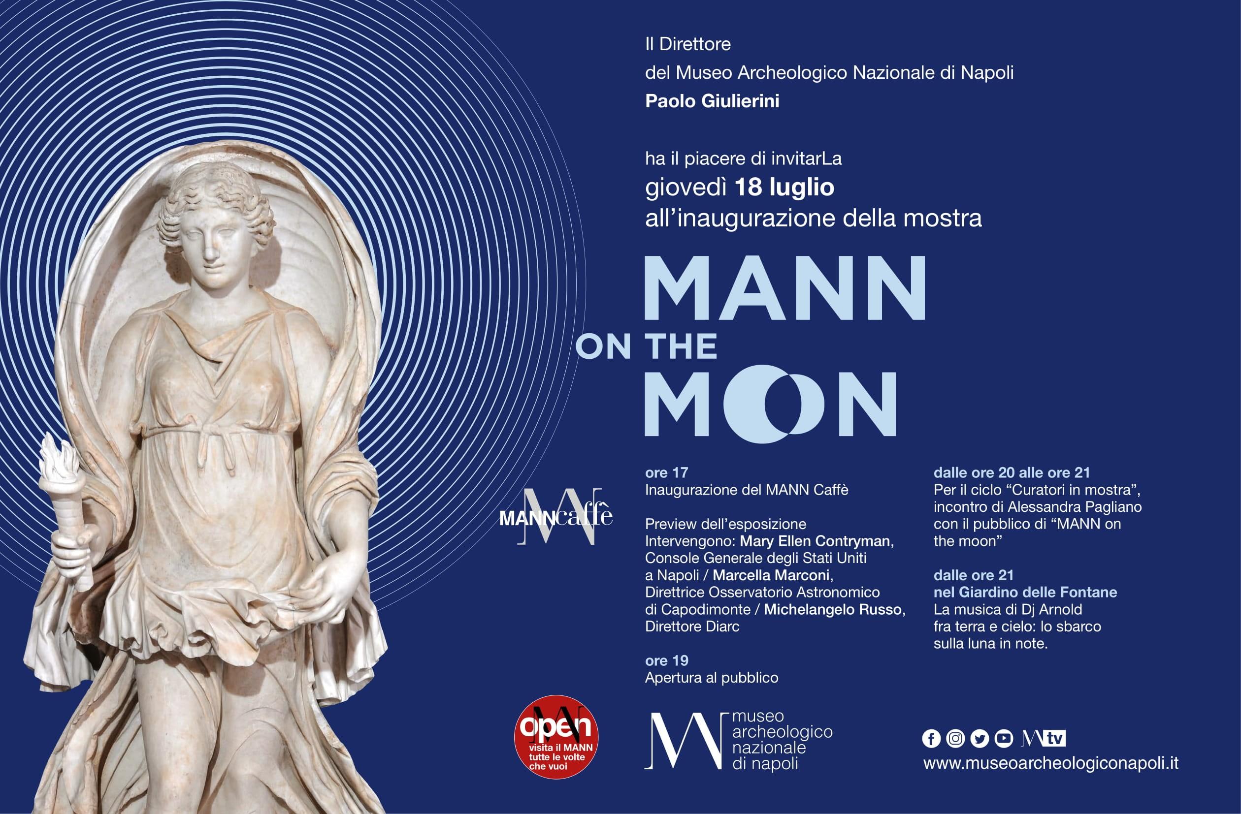 """""""MANN on the moon""""   Dal 18 luglio al 30 settembre, una nuova mostra al MANN"""