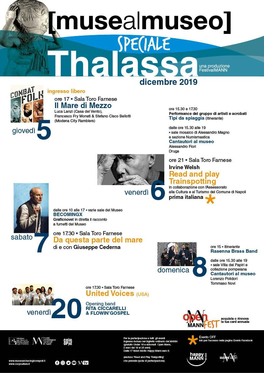 """Dal 5 all'8 dicembre il MANN proporrà la rassegna """"Muse al Museo. Speciale Thalassa"""""""