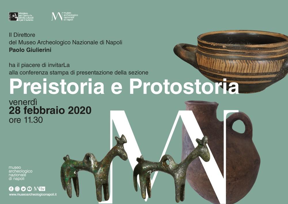 """28/02/2020: Conferenza stampa di presentazione del riallestimento della sezione """"Preistoria e Protostoria"""" del MANN"""