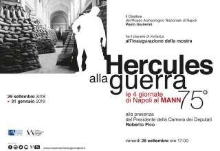 """""""Hercules alla guerra"""" Nel 75° anniversario delle Quattro Giornate, inaugura la mostra al Museo  fino al 31 gennaio"""