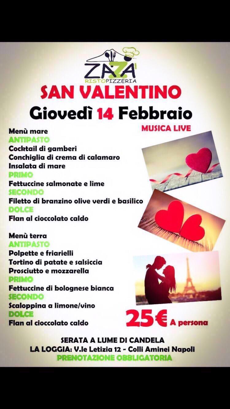 Zazà RistoPizzeria La loggia - Serata San Valentino a lume di candela